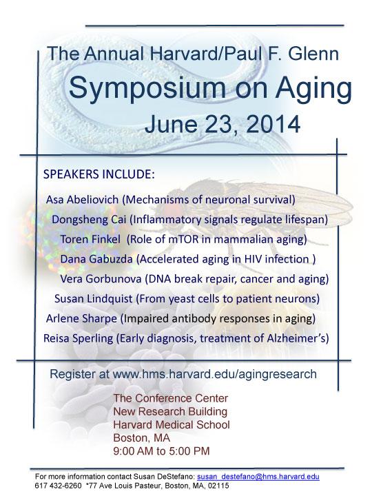 The 2014 Harvard/Glenn Foundation Symposium on Aging