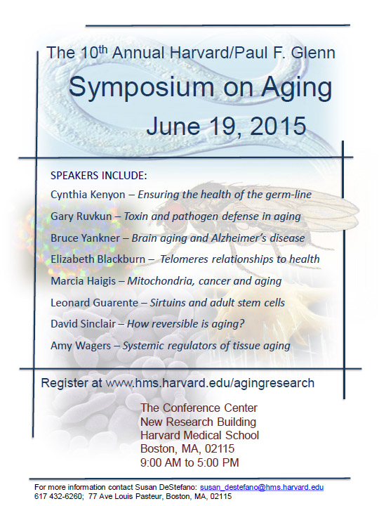 The 2015 Harvard/Glenn Foundation Symposium on Aging