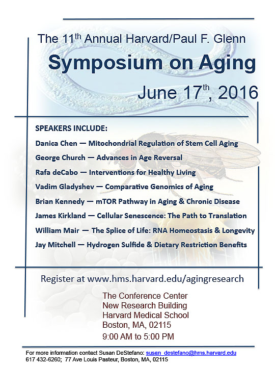 The 2015 Harvard/Glenn Symposium on Aging