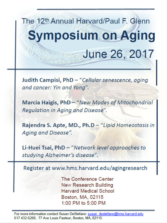 The 2017 Harvard/Glenn Symposium on Aging