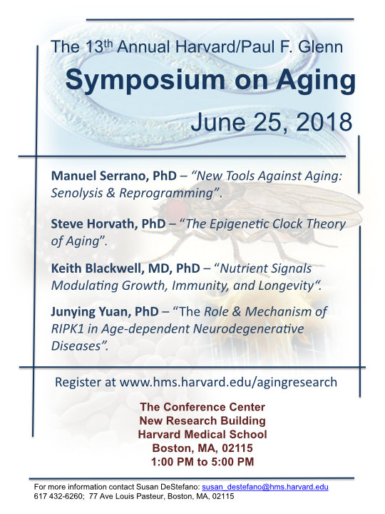 The 2018 Harvard/Glenn Symposium on Aging
