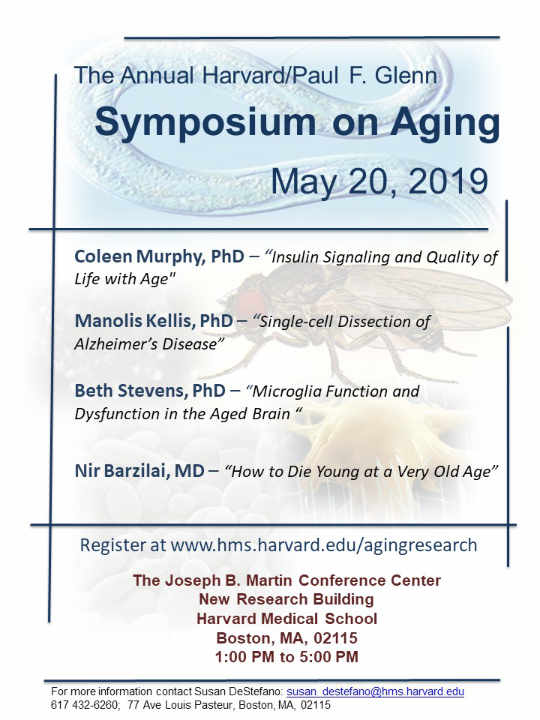 The 2019 Harvard/Glenn Symposium on Aging