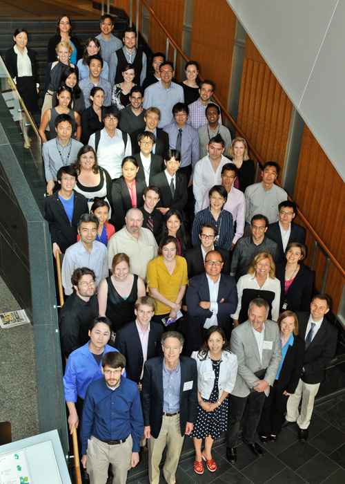 Glenn Labs group photo at the 2013 Symposium on Aging