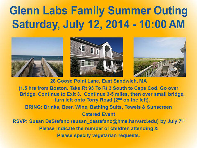 Glenn Labs Family Summer Outing, Saturday, July 12, 2014