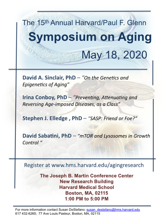 The 2020 Harvard/Glenn Symposium on Aging